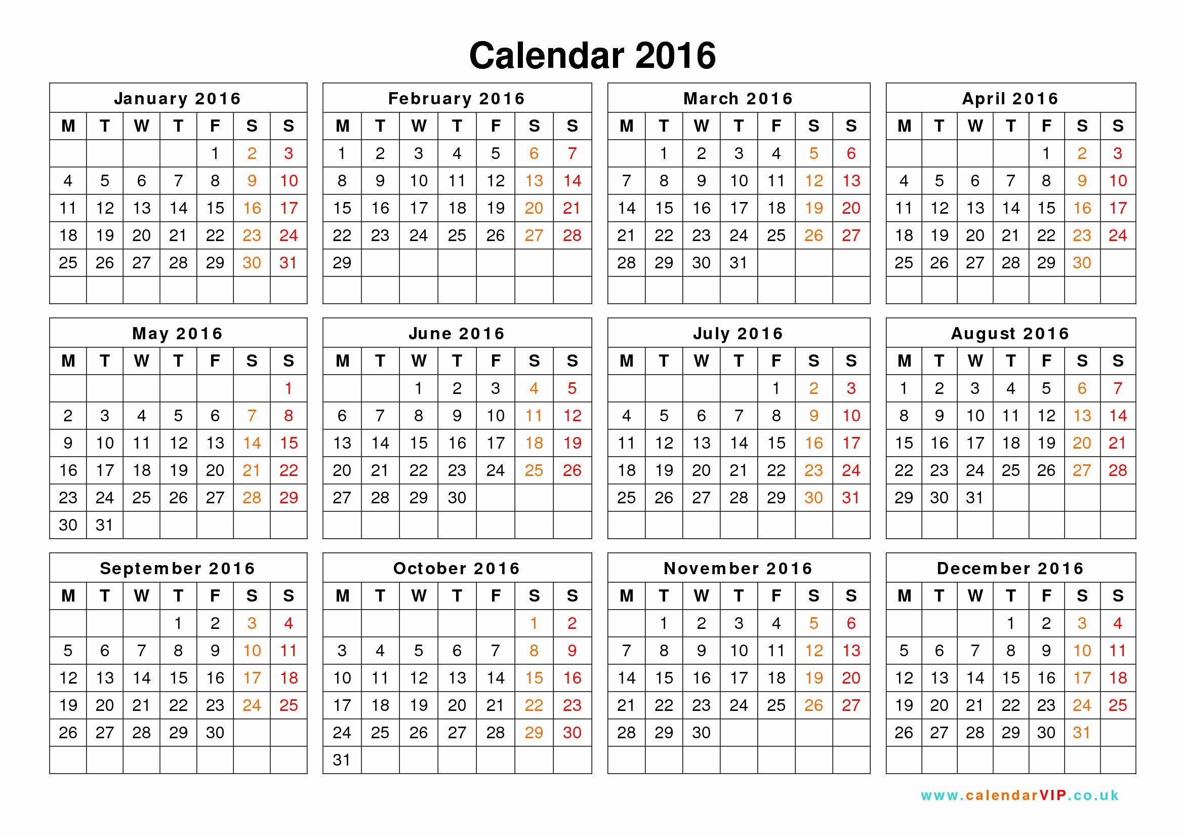Blank Calendar Template 2016 New 2016 Calendar Templates – 2017 Printable Calendar