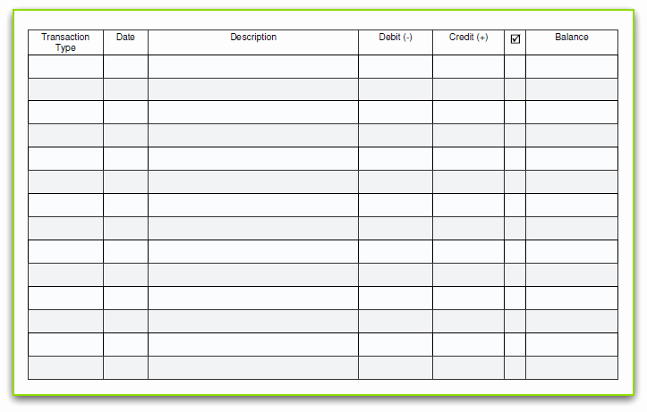 Blank Check Register Template Awesome 6 Free Blank Business Checkbook Register Template Excel