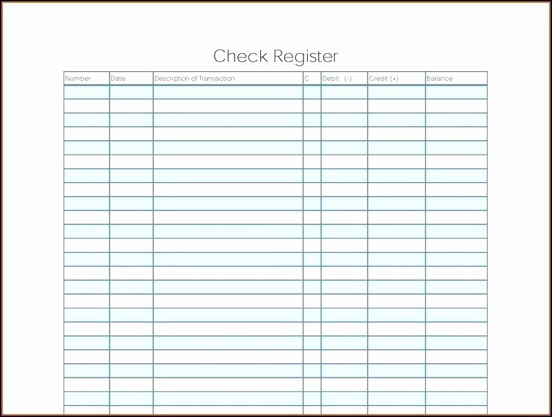 Blank Check Register Template Elegant Checkbook Register Printable Check Full Page Pages