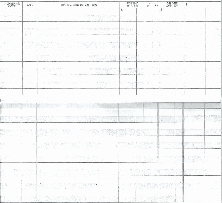 Blank Check Register Template Fresh Free Printable Check Register Pdf – Threestrands