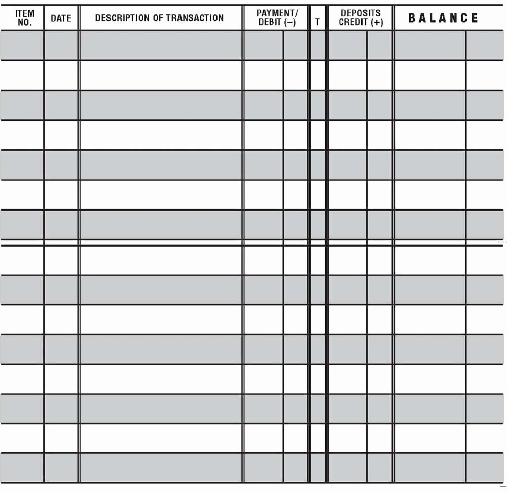 Blank Check Register Template Inspirational 5 Printable Check Register Templates formats Examples