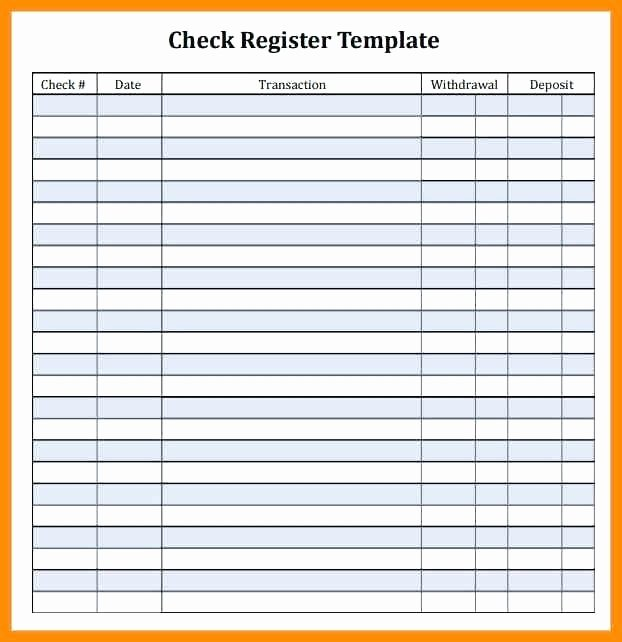 Blank Check Register Template Inspirational Printable Checkbook Register Template – Flirty