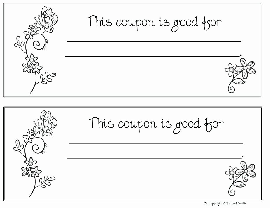 Blank Coupon Template Free Lovely Coupon Book Ideas for Husband Blank Love Templates