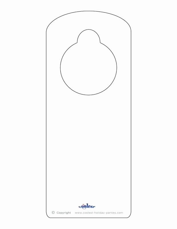 Blank Door Hanger Template Best Of Blank Printable Door Knob Hangers Hanger Template Locks