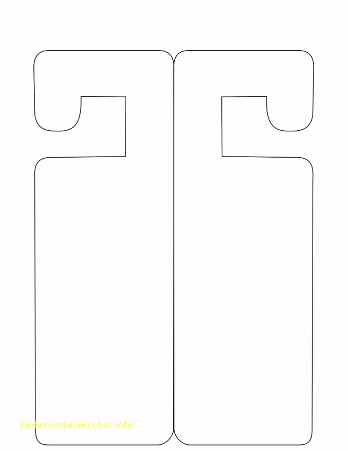 door handle signs template sign printable templates