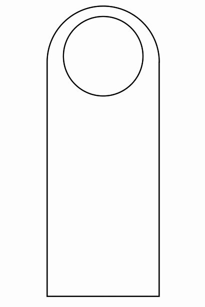 Blank Door Hanger Template New Printable Hang Tag Template for Word Custom Tags Download