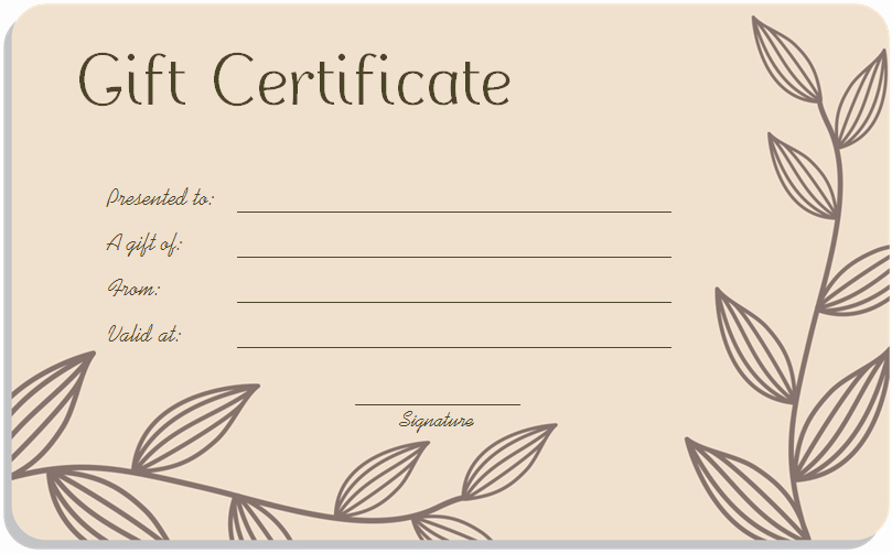 Blank Gift Card Template Awesome Blank Gift Certificate Template Word