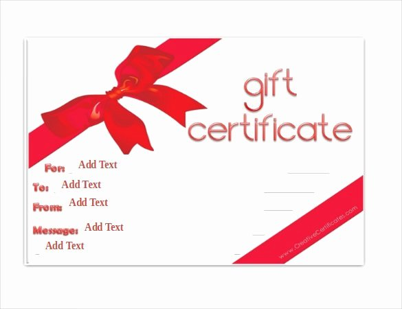 Blank Gift Card Template Elegant Gift Certificate Template 42 Examples In Pdf Word In
