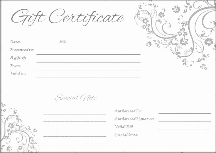 Blank Gift Card Template Fresh the 25 Best Printable T Certificates Ideas On