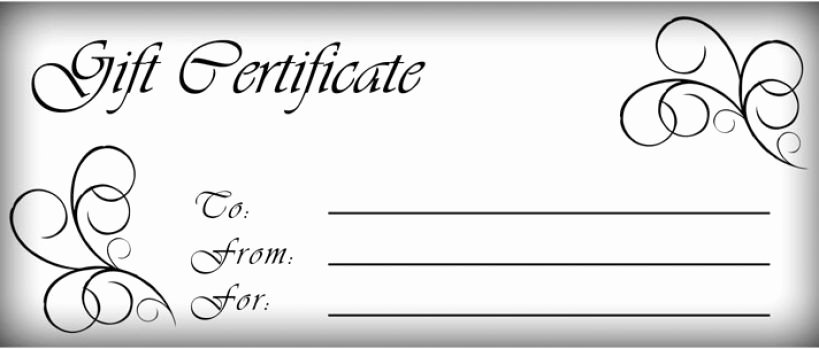 Blank Gift Card Template Inspirational T Certificates Templates