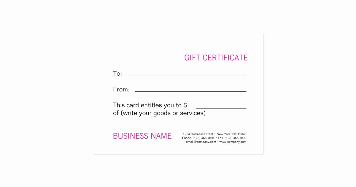 Blank Gift Card Template Luxury Beauty Spa Salon Blank Gift Certificate Template