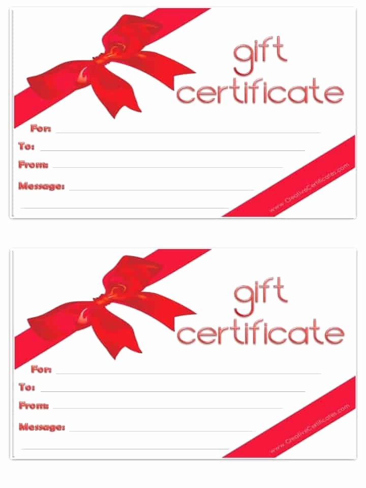 Blank Gift Card Template Luxury Free Gift Certificate Template Customizable