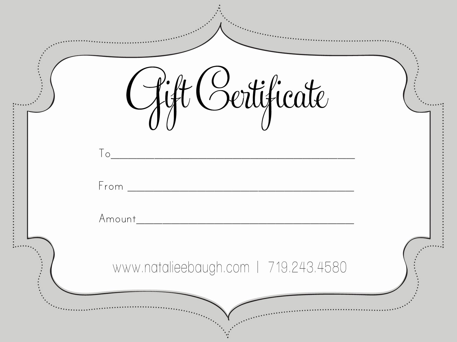 Blank Gift Card Template Unique T Certificate Template