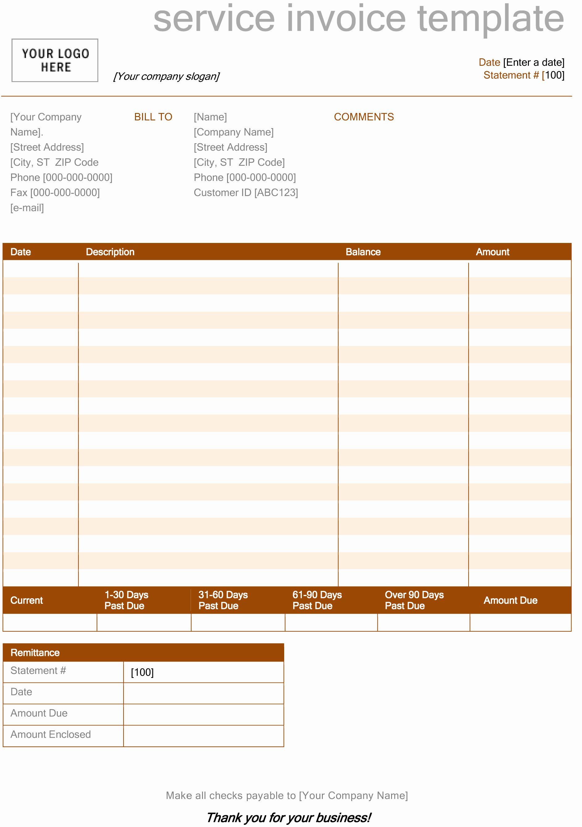 Blank Invoice Template Free Awesome Invoice Template Microsoft Word Spreadsheet Templates for