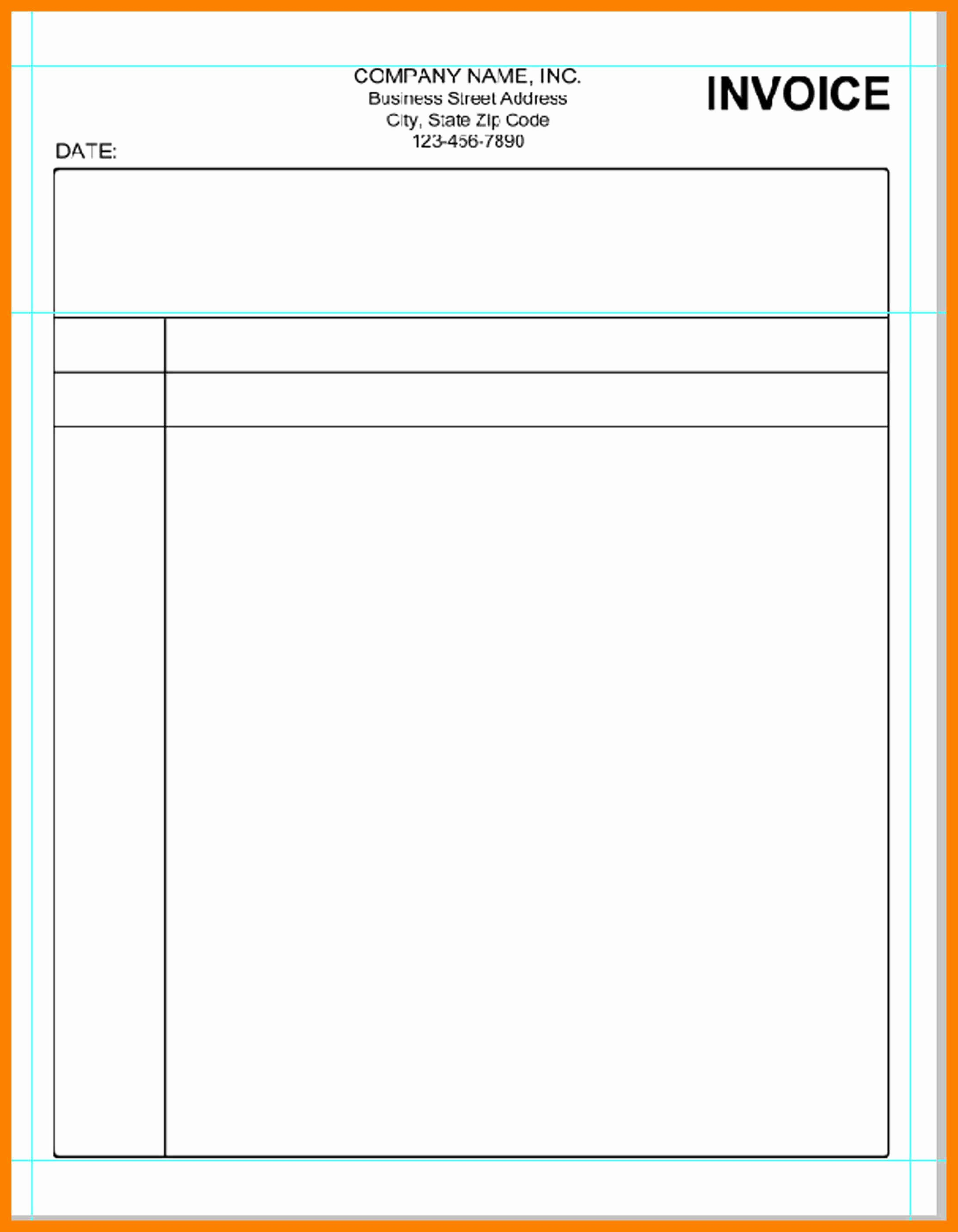 Blank Invoice Template Free Beautiful Invoice Blank Bamboodownunder