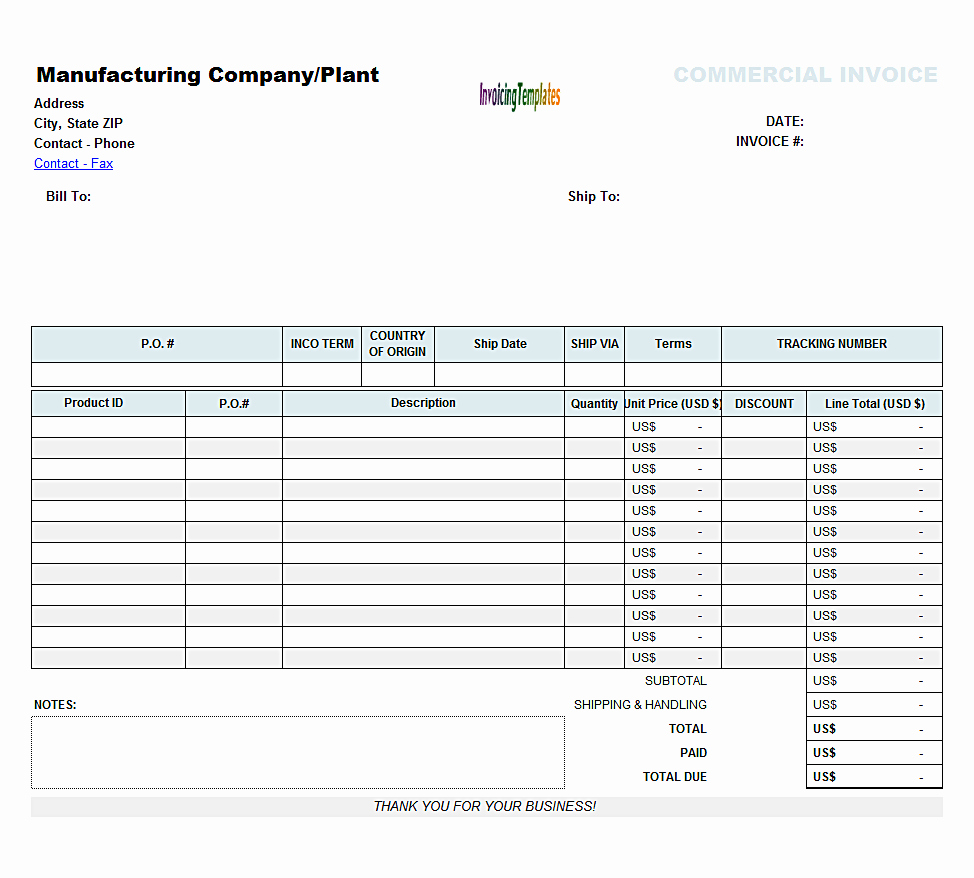 Blank Invoice Template Free Elegant Blank Invoices to Print Mughals