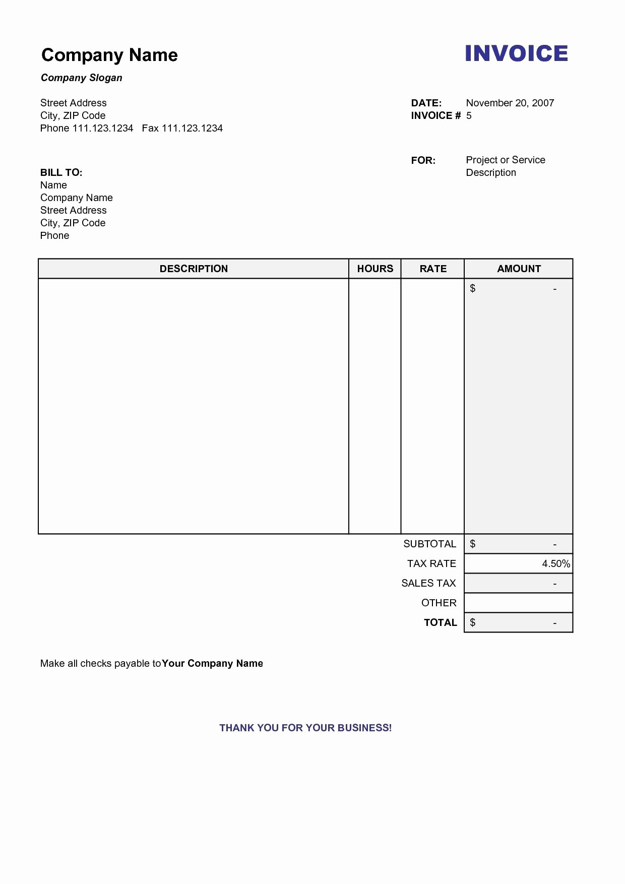 Blank Invoice Template Free Fresh Copy Of A Blank Invoice Invoice Template Free 2016 Copy Of