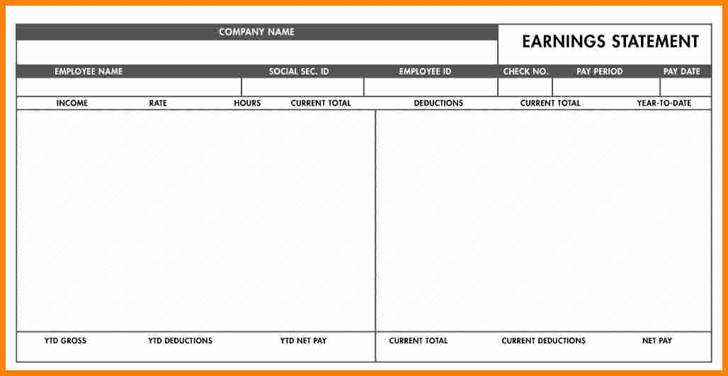 Blank Pay Stubs Template Free Inspirational 5 Free Paycheck Stub Template Word