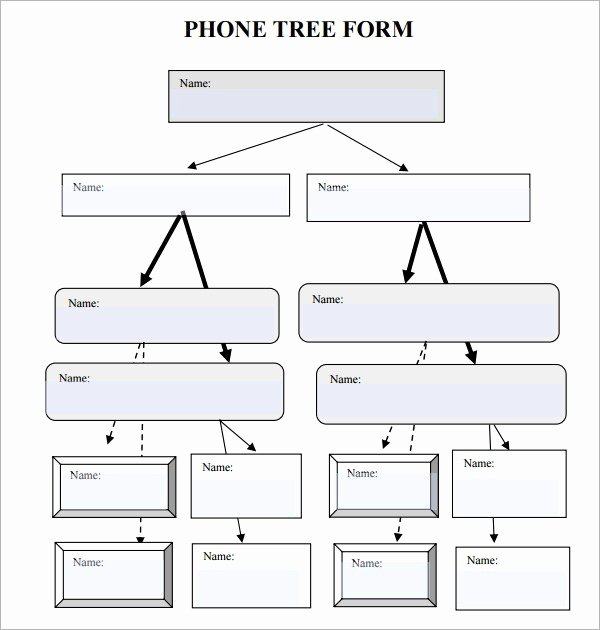 Blank Phone Tree Template Best Of 5 Free Phone Tree Templates Word Excel Pdf formats