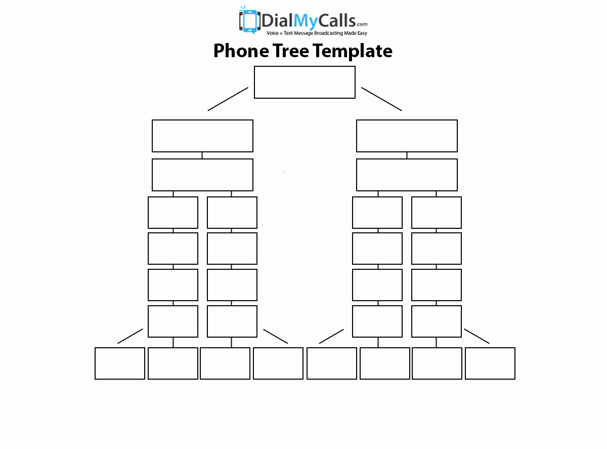 Blank Phone Tree Template Elegant top 3 Phone Tree Templates 2017 Update