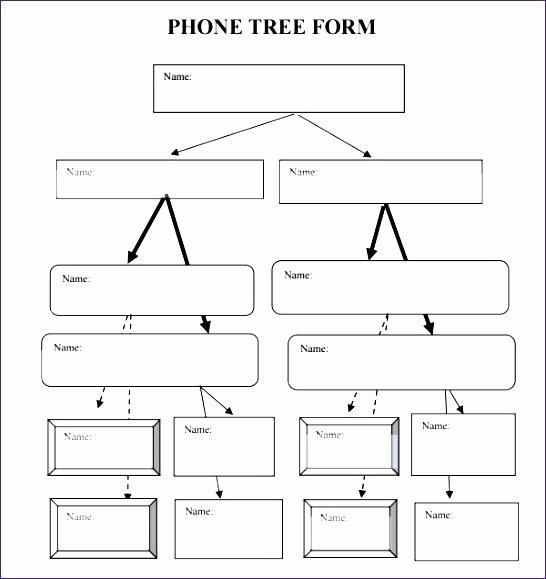 Blank Phone Tree Template Unique Printable Phone Tree Templates Doc Excel Free Template