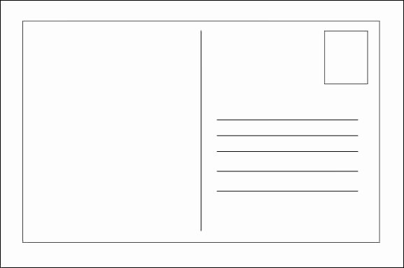 Blank Postcard Template Word Best Of 26 Printable Postcard Templates