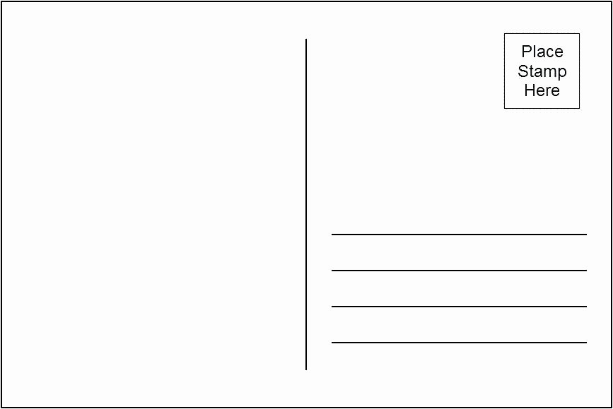 Blank Postcard Template Word Elegant Postcard Template Ks2 Templates for Word with Lines