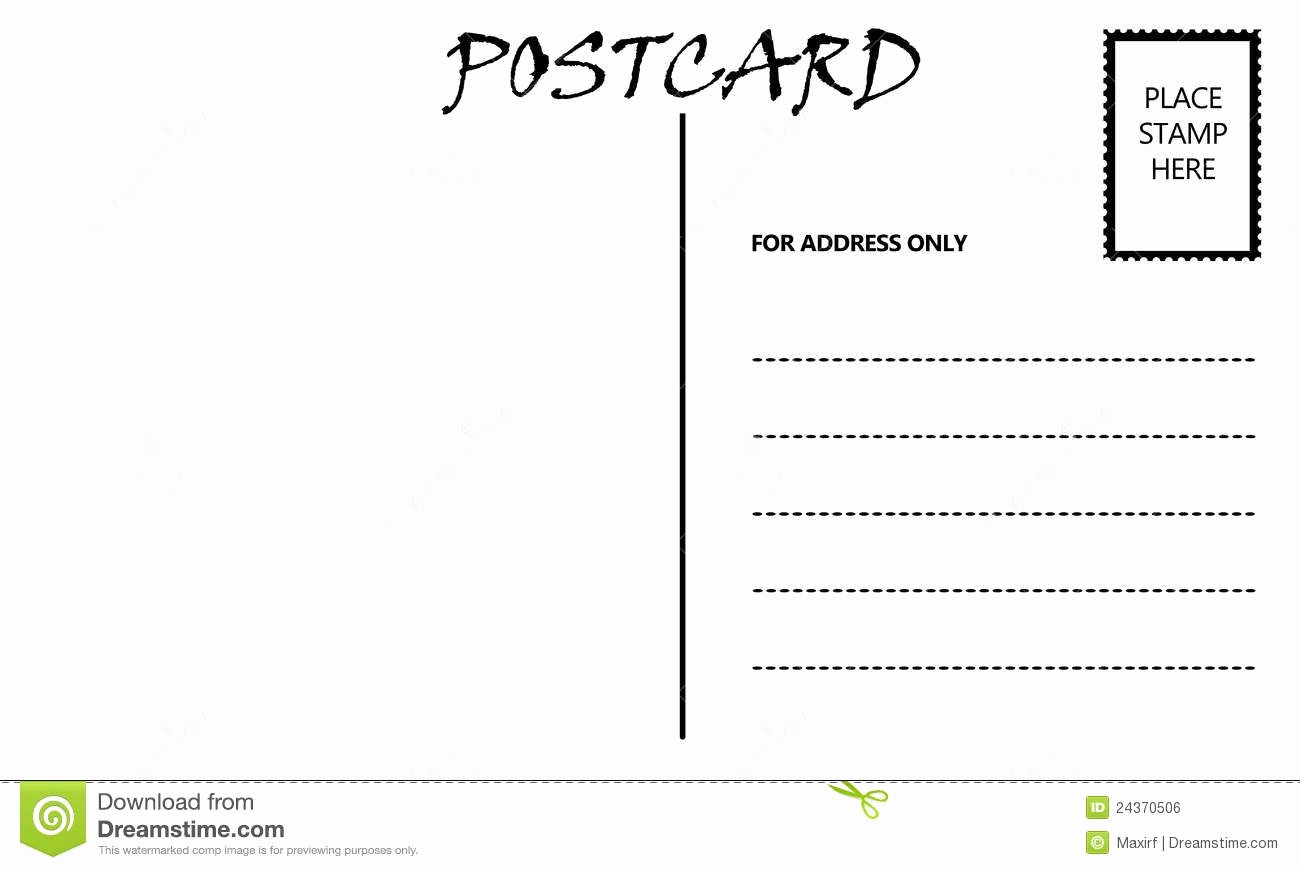 Blank Postcard Template Word Fresh Postcard Clipart Blank Pencil and In Color Postcard