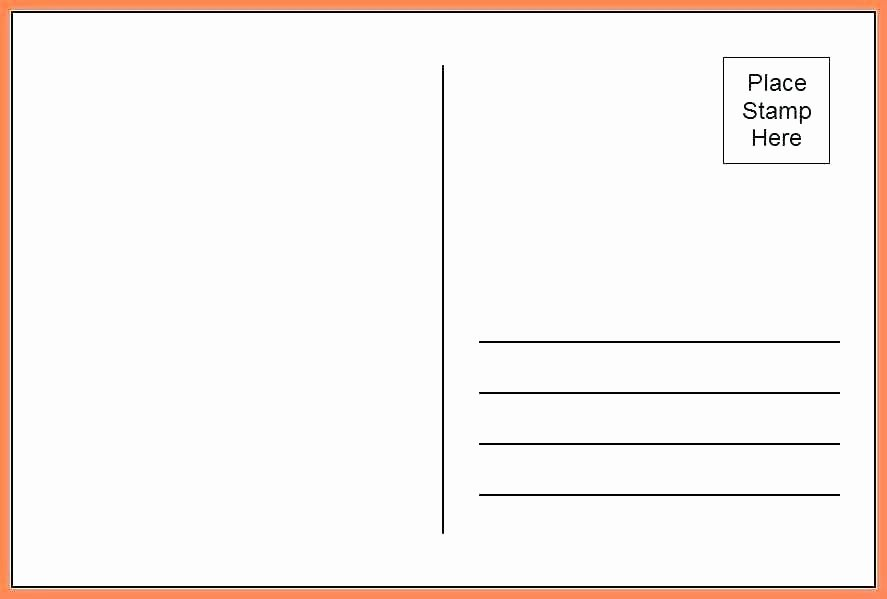 Blank Postcard Template Word Inspirational Blank Postcards Template – Takesdesign