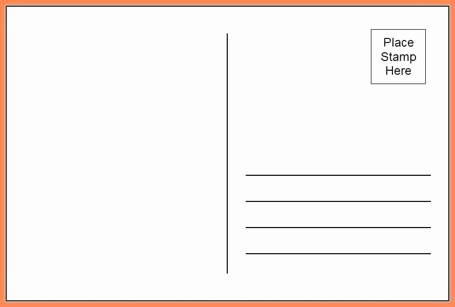Blank Postcard Template Word Lovely Free 4×6 Postcard Template – Vitaminacfo