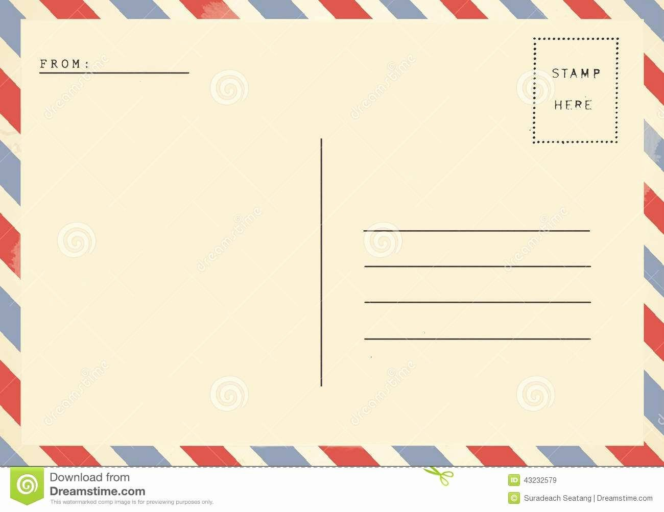 Blank Postcard Template Word Lovely Inspirational Free Blank Postcard Templates for Word