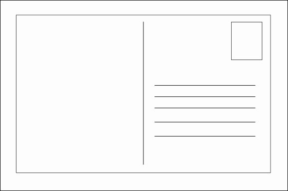 Blank Postcard Template Word Luxury Free Postcard Templates