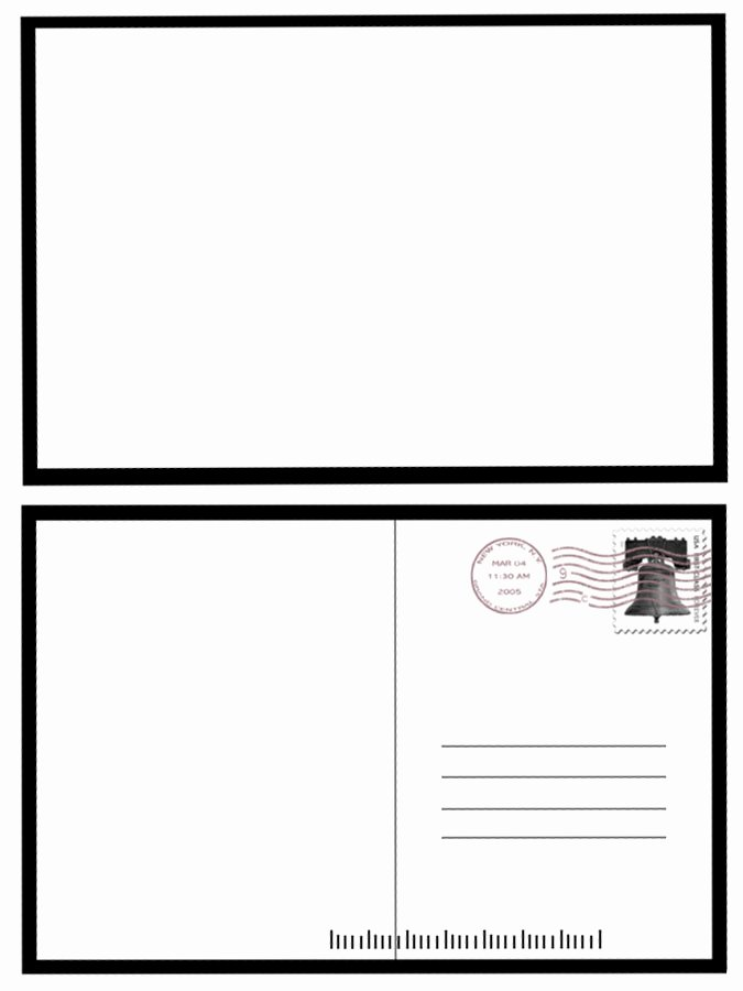 Blank Postcard Template Word New 7 Best Of Postcard Back Template Free Blank