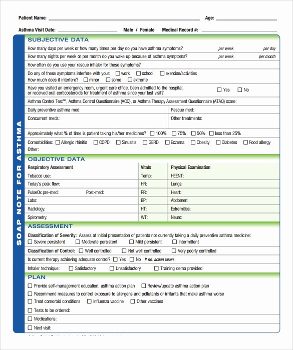 Blank soap Note Template Awesome soap Note Template 10 Download Free Documents In Pdf Word