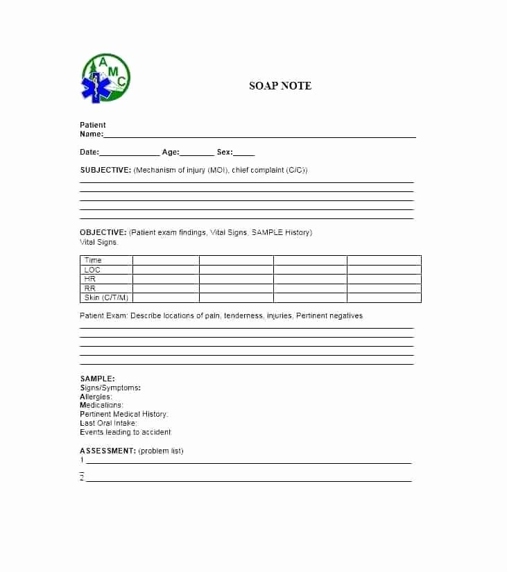 Blank soap Note Template Best Of Template Monster Help Blank Printable soap Note forms 9