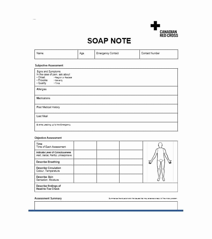 Blank soap Note Template Inspirational 40 Fantastic soap Note Examples & Templates Template Lab