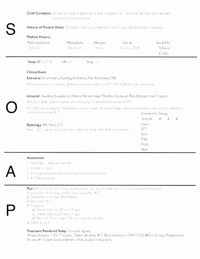 Blank soap Note Template Lovely Blank soap Note Template New Word Notes form Equipped