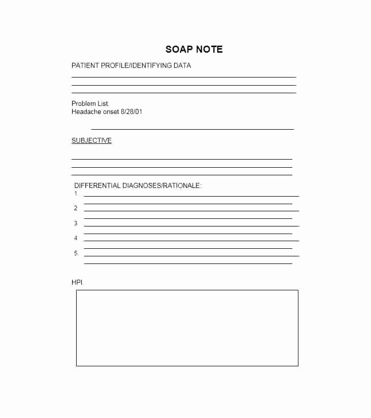 Blank soap Note Template Luxury Blank Printable soap Note forms – Vuthanewsfo