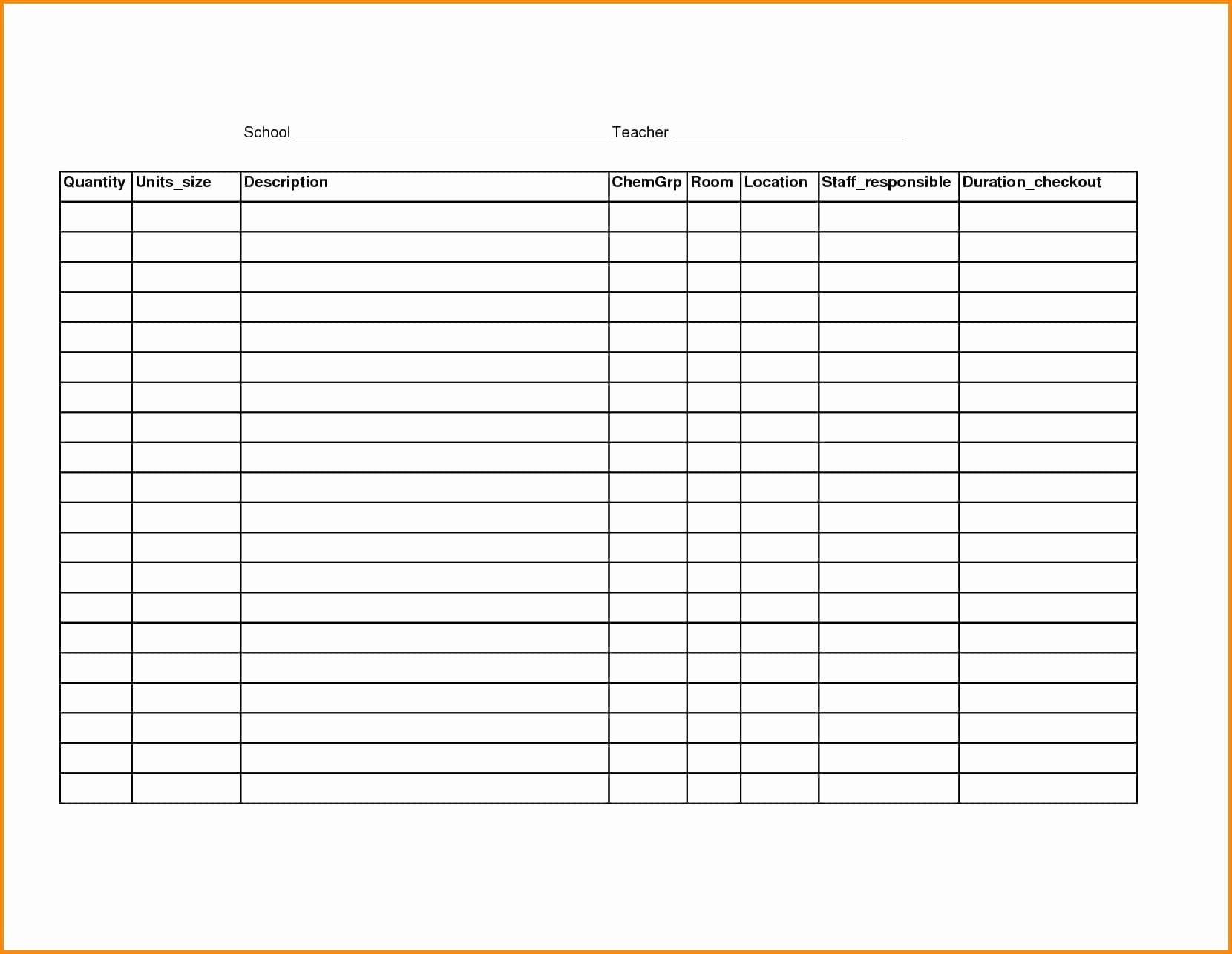 photo about Free Printable Spreadsheet With Lines named Blank Spreadsheet Template Printable Sophisticated Free of charge Blank