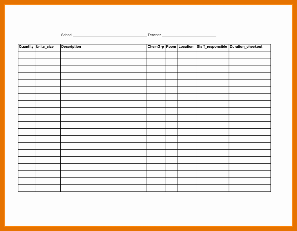 Blank Spreadsheet Template Printable Lovely 8 9 Blank Spreadsheet