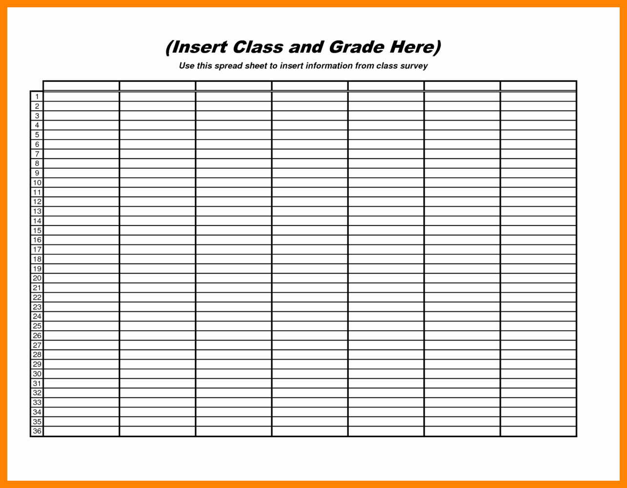 Blank Spreadsheet Template Printable New Free Blank Printable Spreadsheet S