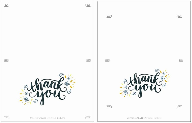 Blank Thank You Card Template Awesome Freebie Printable Thank You Card