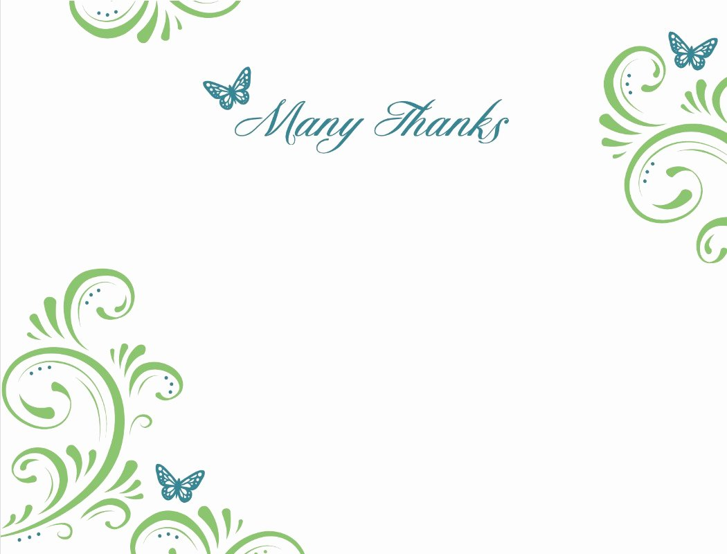 Blank Thank You Card Template Beautiful Thank You Template