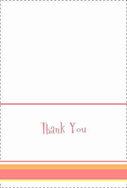 Blank Thank You Card Template Best Of Cute & Free Baby Shower Thank You Notes