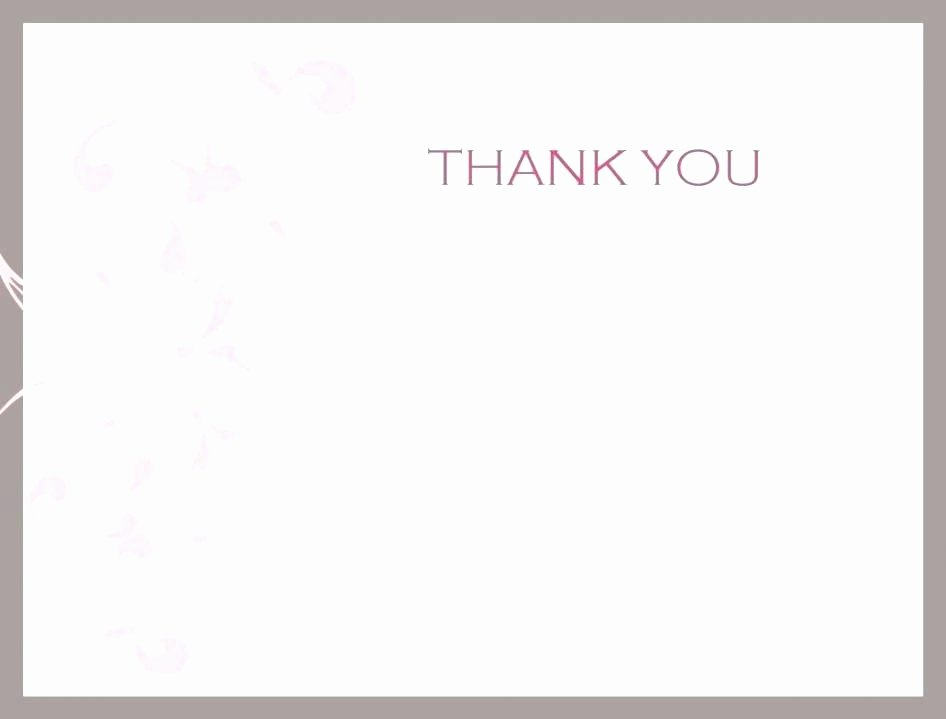 Blank Thank You Card Template Elegant Holiday Thank You Card Free Printable Tarot