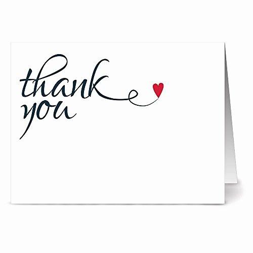 Blank Thank You Card Template Fresh Heart Felt Thank You 36 Thank You Note Cards Blank