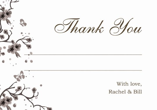Blank Thank You Card Template Inspirational Enjoy Ideas Wedding Thank You Card Template Framed Flower