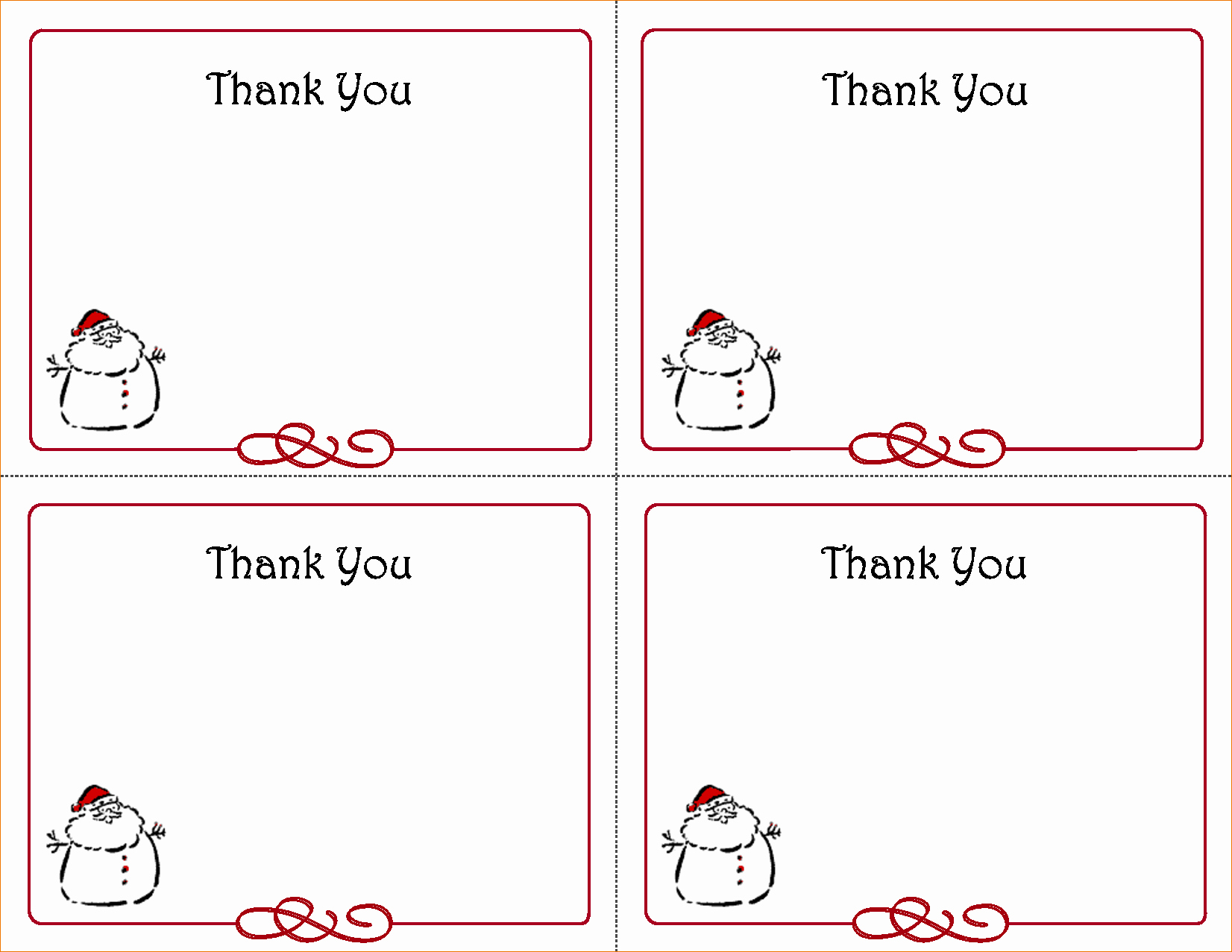 Blank Thank You Card Template Unique 5 Free Thank You Card Template