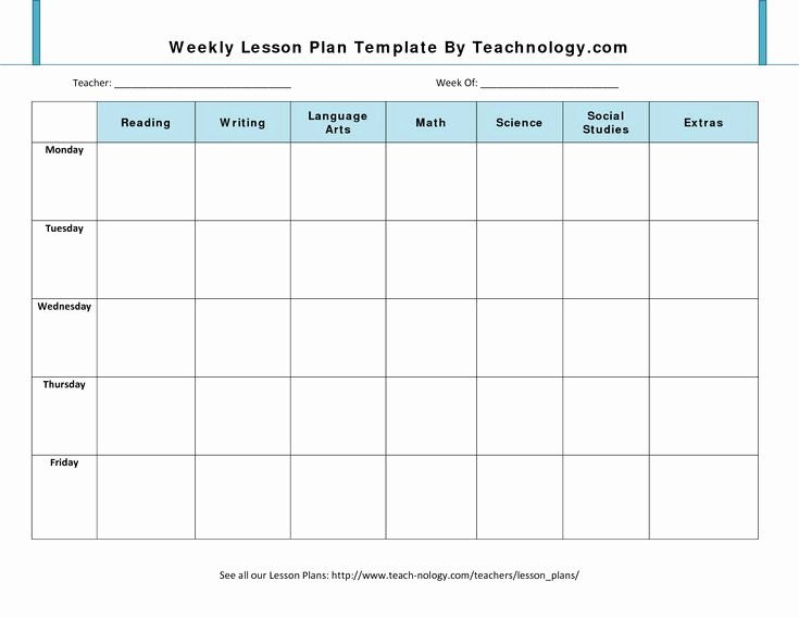 Blank toddler Lesson Plan Template Beautiful Blank Lesson Plan Template