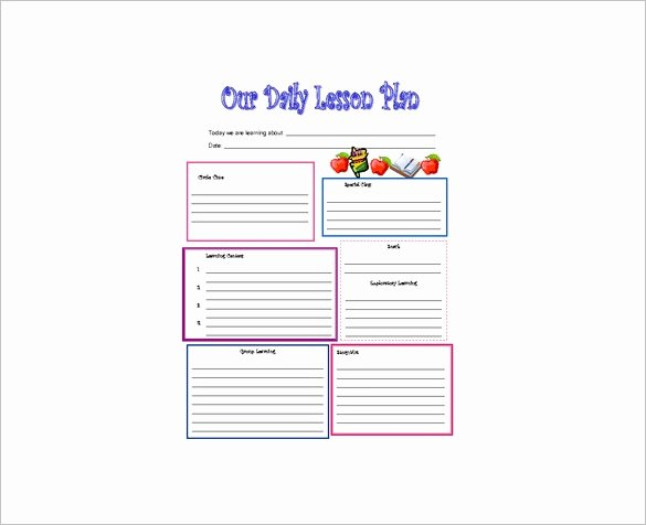 Blank toddler Lesson Plan Template Best Of Daily Lesson Plan Template 14 Free Pdf Word format